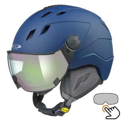 CP Corao+ Skihelm blau - photochrom Visier (4 Optionen) - sehr sicher