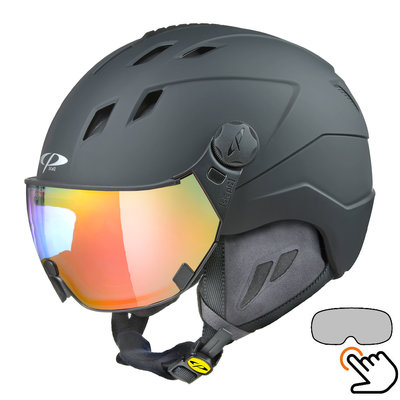 CP Corao Skihelm schwarz - photochrom Visier (4 Optionen)