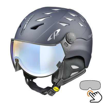 CP Cuma Skihelm blau - photochrom & polarisiert Visier (6 Optionen)