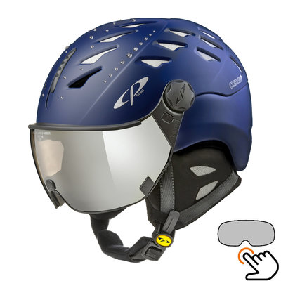CP Cuma Swarovski Skihelm blau - photochrom Visier (4 Optionen)