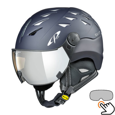 CP Cuma Skihelm blau - photochrom Visier (7 Optionen)