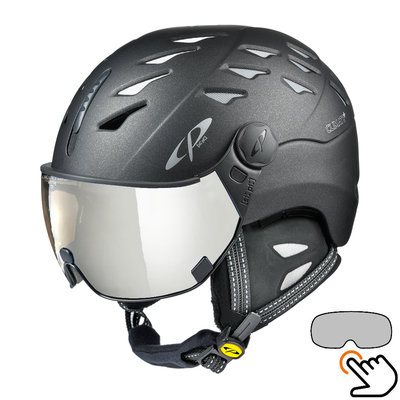 CP Cuma Cashmere Skihelm schwarz - photochrom Visier (6 Optionen)