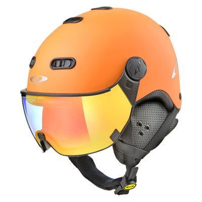 CP Carachillo Skihelm orange - single spiegel visier (2 Optionen)