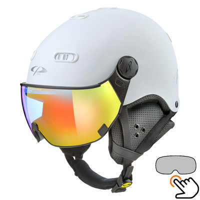 CP Carachillo weiss matt skihelm - photochrom Visier (4 Optionen)