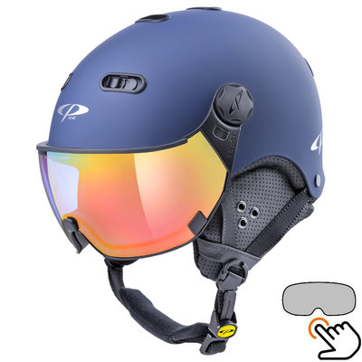 CP Carachillo blau skihelm - photochrom Visier (4 Optionen)