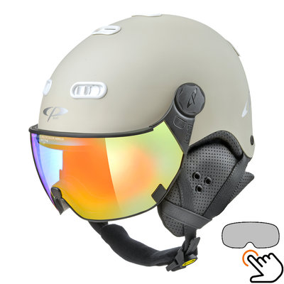 CP Carachillo weiss creme skihelm - photochrom Visier (4 Optionen)