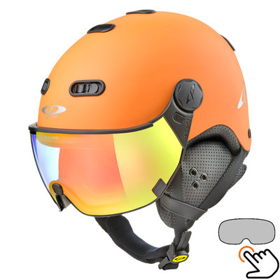 CP Carachillo orange skihelm - photochrom Visier (4 Optionen)