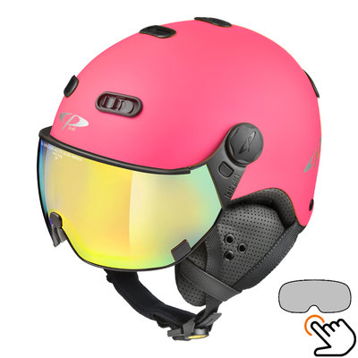 CP Carachillo fluo rosa matt skihelm - photochrom Visier (4 Optionen)