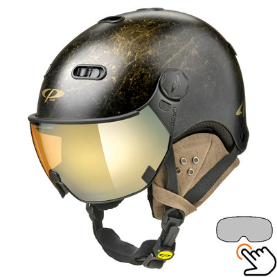 CP Carachillo Vintage schwarz skihelm - photochrom Visier (4 Optionen)