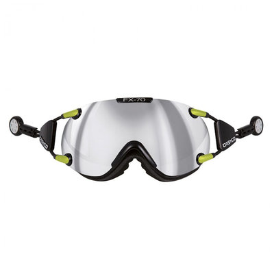 CASCO FX-70 CARBONIC SKIBRILLE - black-neon - MIRROR CAT. 2 - (☀/☁)