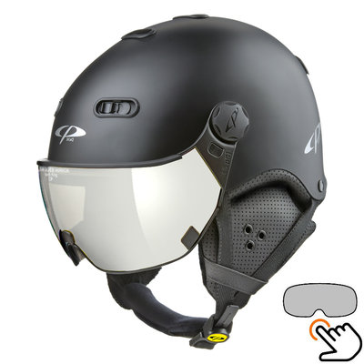CP Carachillo Skihelm schwarz - single spiegel visier (2 Optionen)