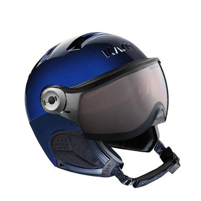 Kask Chrome Skihelm mit Visier Blau - Photochromic Visier (☁/❄/☀) Cat.1-2