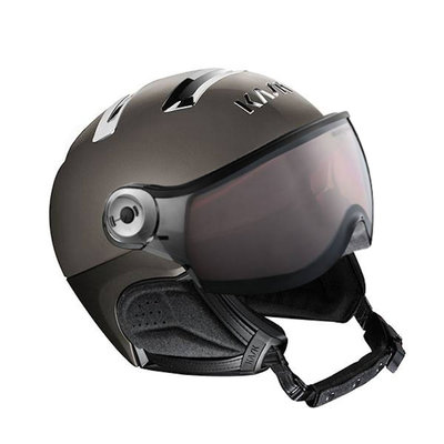 Kask Chrome Platinum Skihelm mit Visier Grau - Photochromatisch Visier (☁/❄/☀) Cat.1-2