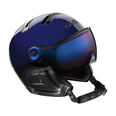 Kask Chrome Skihelm mit Visier Blau - Irridium Visier (☁/☀) Cat.2