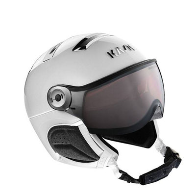 Kask Chrome white-silver Skihelm mit Visier - Photochromatisch Visier (☁/❄/☀) Cat.1-2