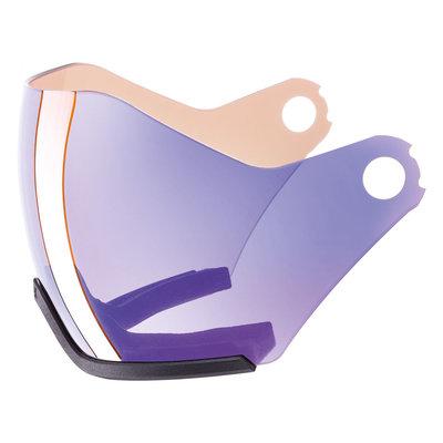 Uvex Skihelm ersatz Visier Photochromic - Für Uvex HLMT 600 - variomatic mirror blue Cat. 1-2 (☁/❄/☀)