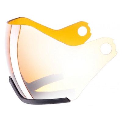 Uvex Skihelm ersatz Visier - Für Uvex HLMT 600 - Visor litemirror silver-lasergold Cat. 2 (☁/☀)