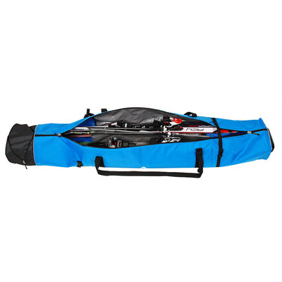 Skisack Corvara Vario Duo - blau schwarz - Skitasche für 2 Paar Ski mit Stöcken