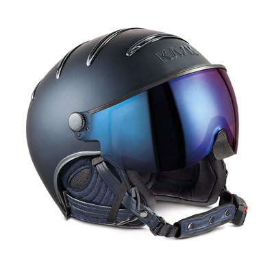 KASK CHROME SKIHELME - BLUE - IRIDIUM MIRROR VISIER CAT. 2 ☀/☁