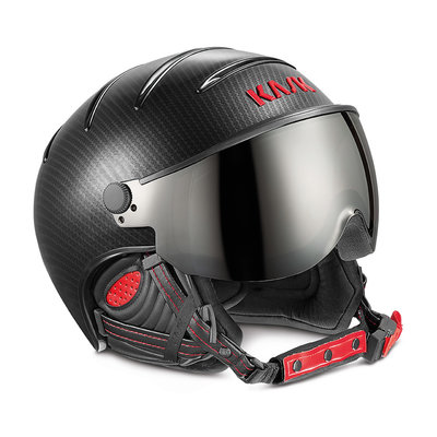 KASK ELITE PRO SKIHELME - CARBON BLACK RED - PHOTOCHROMIC VIZIER CAT. 2 (☁/☀/❄)