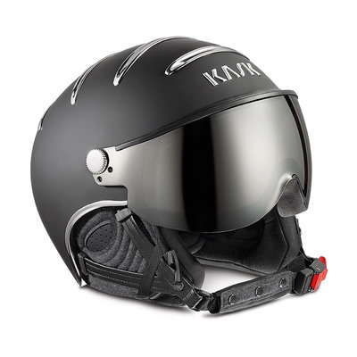 KASK CHROME SKIHELME -  BLACK SILVER - SILVER MIRROR VISIER ☀