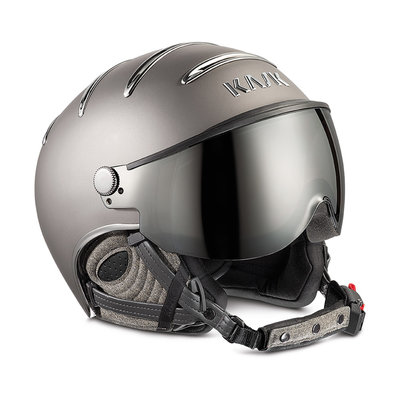 KASK CHROME SKIHELME - PLATINUM - SILVER MIRROR VISIER CAT. 2 ☀/☁