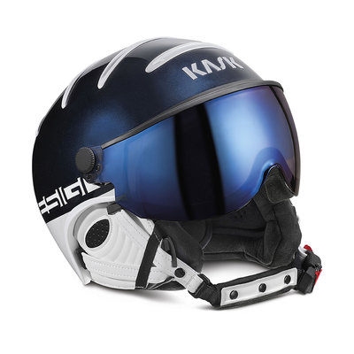 KASK CLASS SPORT SKIHELM - NAVY - IRIDIUM MIRROR VIZIER CAT. 2 (☀/☁/❄)