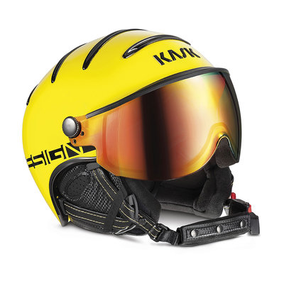 KASK MONTE CARLO SKIHELME - YELLOW -  RED MIRROR VISIER CAT. 2 ☀/☁