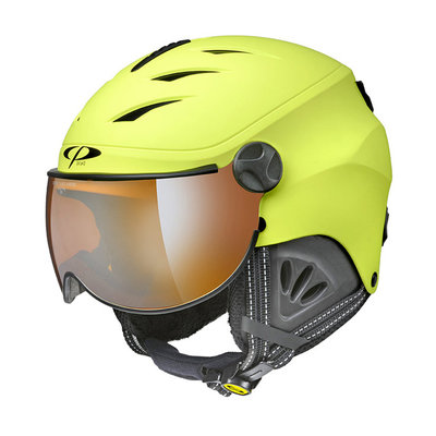 CP CAMULINO SKIHELM KINDER - SULPHUR SPRING - ORANGE SILVER MIRROR VISIER Cat.2 - (☀/☁)