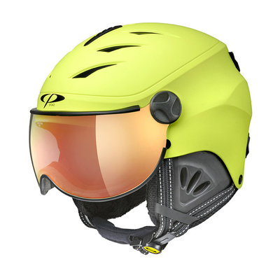 CP CAMULINO SKIHELM KINDER - SULPHUR SPRING - FLASH GOLD MIRROR VISIER Cat.3 - (☀)