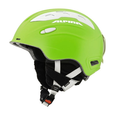 ALPINA SNOW MYTHOS SKIHELM - LIME SILK MATT