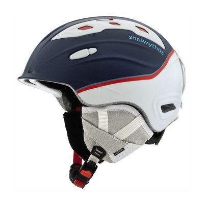 ALPINA SNOW MYTHOS SKIHELM -  BLAU WEISS SATIN