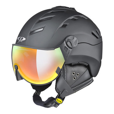 CP CAMURAI SKIHELM - BLACK - DL VARIO MULTICOLOUR MIRROR VISIER CAT. 2-3 - (☁/☀/❄)