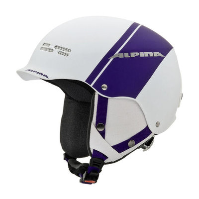 ALPINA SPAM CAP SKIHELM - WIT PAARS MAT