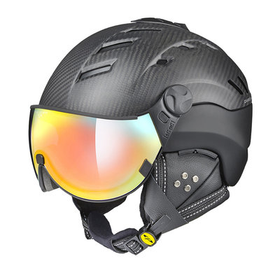 CP Camurai Carbon Skihelm Schwarz Matt mit photochrom visier (❄/☁/☀) multi colour