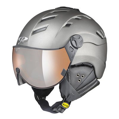 CP CAMURAI SKIHELM - TITAN S.T/ TITAN S.T - ORANGE SILVER MIRROR VISIER - CAT. 2 - (☁/☀/❄)