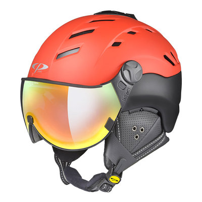 CP CAMURAI SKIHELM - POWER RED/BLACK S.T - DL VARIO MULTICOLOUR MIRROR VISIER - CAT.2-3 - (☁/☀/❄)