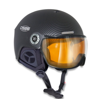 OSBE NEW LIGHT R SKIHELM - CARBON LOOK BLACK - PHOTOCHROMIC VISIER CAT. 1-3 (☁/☀/❄)