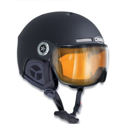 OSBE NEW LIGHT R SKIHELM - DULL BLACK -  PHOTOCHROMIC VISIER CAT. 1-3 (☁/☀/❄)