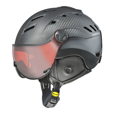 CP CAMURAI SKIHELM - DARK CARBON BLACK - DL POLARIZED/VARIO VISIER CAT. 2-3 - (☁/☀/❄)