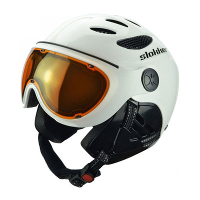 SLOKKER RAIDER SKIHELM - BLACK - PHOTOCHROMIC POLARIZED VISIER CAT. 1-2 - (☀/☁)