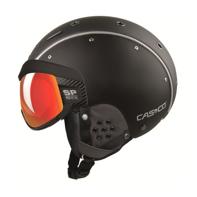 CASCO SP-6 SKIHELM - ZWART - PHOTOCHROM VAUTRON VISIER - CAT.1-3 (☁/☀/❄)