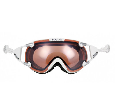 CASCO FX-70 VAUTRON SKIBRILLE - WEISS - PHOTOCHROMIC POLARIZED CAT. 1-3 - (☁/☀/❄)