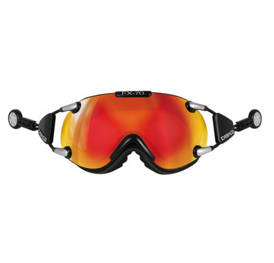 CASCO FX-70 CARBONIC SKIBRILLE - SCHWARZ - MIRROR CAT. 2 - (☀/☁)