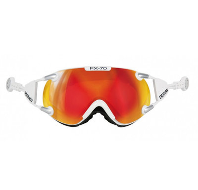 CASCO FX-70 CARBONIC SKIBRILLE - WEISS - MIRROR CAT. 2 - (☀/☁)