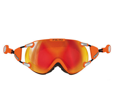 CASCO FX-70 CARBONIC SKIBRILLE - ORANGE - MIRROR CAT. 2 - (☀/☁)
