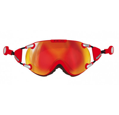 CASCO FX-70 CARBONIC SKIBRILLE - ROT - MIRROR CAT. 2 - (☀/☁)