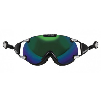 CASCO FX-70 CARBONIC SKIBRILLE - GRÜN - MIRROR CAT. 2 - (☀/☁)