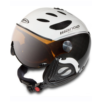 MANGO CUSNA PRO FREE XP SKIHELM - BLACK CARBON -  ORANGE MIRROR VISIER CAT. 2  (☁/☀/❄)