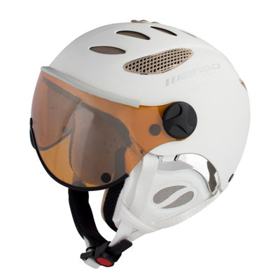 MANGO CUSNA FREE SKIHELM - PROSECCO MAT - ORANGE MIRROR VISIER CAT. 2 - (☁/☀/❄)